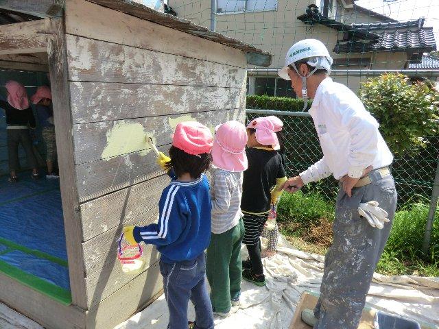 2014.05.09 こっころ 湯町保育園 ボランティア塗装
