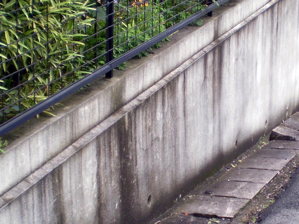 外壁・擁壁や塀の汚れ