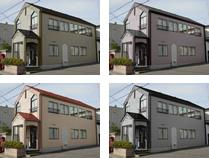 屋根・外壁を色々組み合わせ