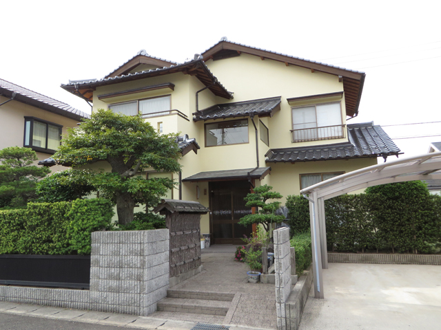 A様ご邸宅/2013年6月竣工 外壁:ナノコンポジットW 竣工後01