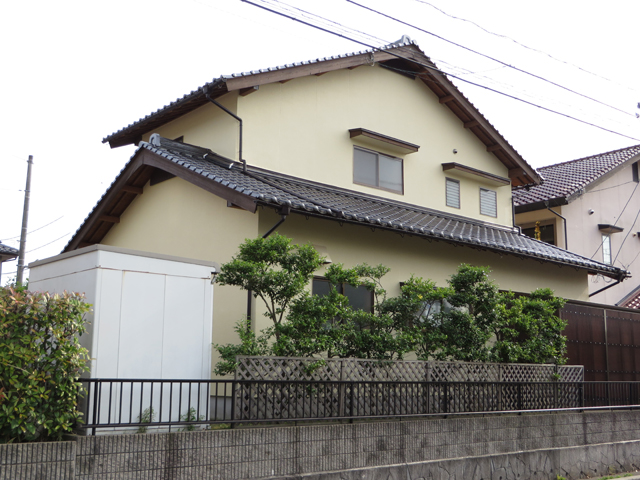A様ご邸宅/2013年6月竣工 外壁:ナノコンポジットW 竣工後02