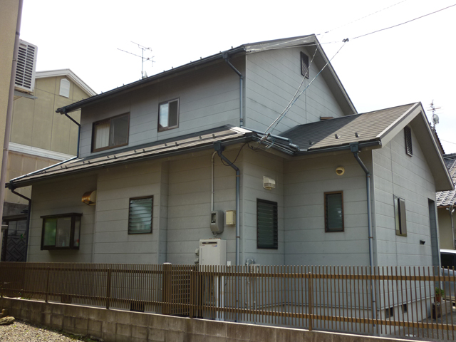 I様ご邸宅/2013年5月竣工 外壁:ナノコンポジットW/屋根:クールタイトSi 施工前02
