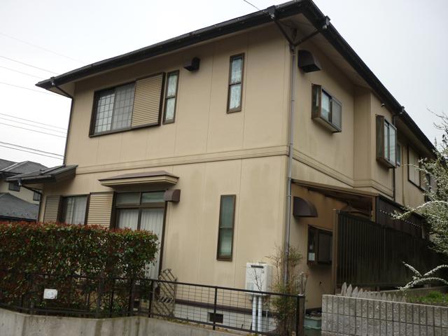 M様ご邸宅/2013年6月竣工 外壁:ナノコンポジットW/屋根:クールタイトSi 施工前02