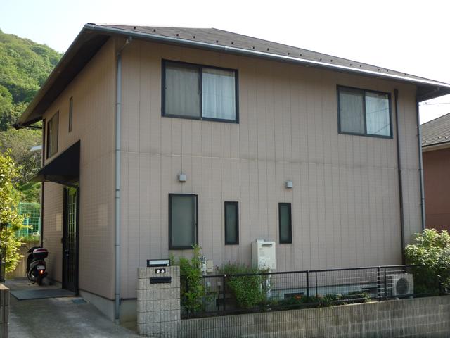 K様ご邸宅/2013年10月竣工 外壁:クリーンマイルドシリコン 屋根:ヤネフレッシュSi 着工前1
