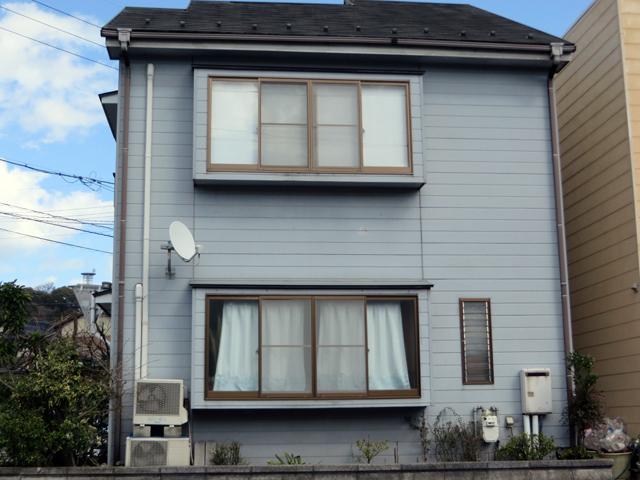 K様ご邸宅/2014年5月竣工 外壁:クリーンマイルドシリコン 屋根:ヤネフレッシュSi 着工前3
