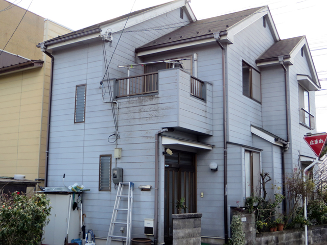 K様ご邸宅/2014年5月竣工 外壁:クリーンマイルドシリコン 屋根:ヤネフレッシュSi 着工前2