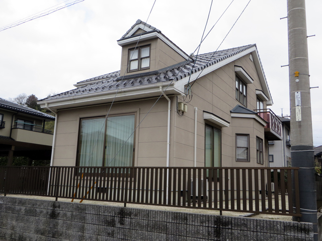 K様ご邸宅/2014年5月竣工 外壁:ナノコンポジットW 着工前2