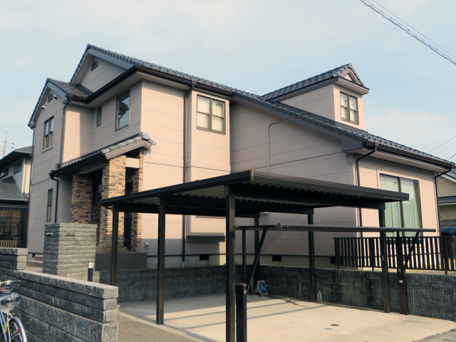 K様ご邸宅/2014年5月竣工 外壁:ナノコンポジットW 竣工1