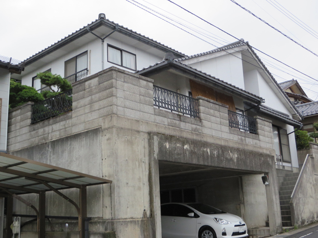 I様ご邸宅/2014年11月竣工 外壁:ナノコンポジットW 着工前3