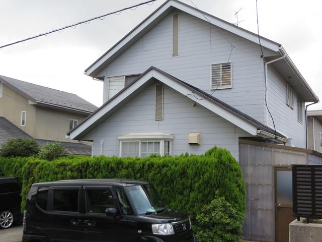 S様ご邸宅/2014年12月竣工 外壁:ナノコンポジットW/屋根:ヤネフレッシュSi 着工前3