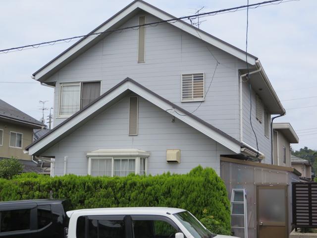 S様ご邸宅/2014年12月竣工 外壁:ナノコンポジットW/屋根:ヤネフレッシュSi 着工前2
