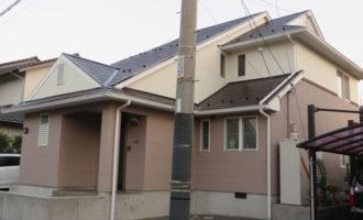 Y様ご邸宅/2014年11月竣工 外壁:ナノコンポジットW/屋根:クールタイトSi 竣工1