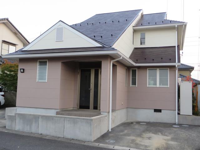 Y様ご邸宅/2014年11月竣工 外壁:ナノコンポジットW/屋根:クールタイトSi 竣工2