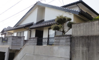I様ご邸宅/2014年11月竣工 外壁:ナノコンポジットW 竣工1