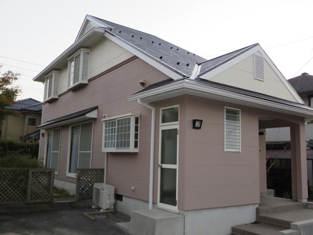 Y様ご邸宅/2014年11月竣工 外壁:ナノコンポジットW/屋根:クールタイトSi 竣工3