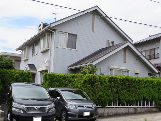 S様ご邸宅/2014年12月竣工 外壁:ナノコンポジットW/屋根:ヤネフレッシュSi 着工前1
