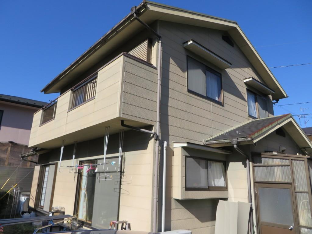 S様ご邸宅/2015年4月竣工 外壁:ナノコンポジットW/屋根:クールタイトSi 着工前3