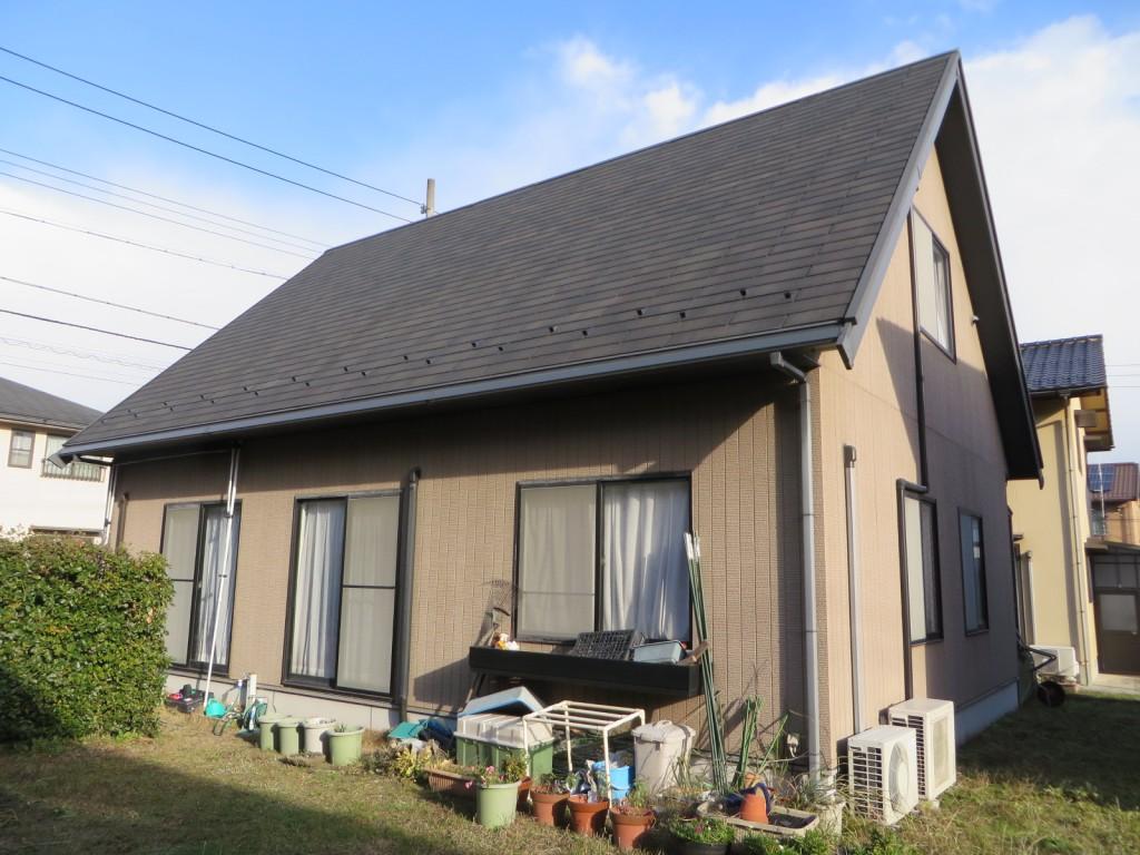 M様ご邸宅/2015年5月竣工 外壁:ナノコンポジットW/屋根:クールタイトF 着工前2
