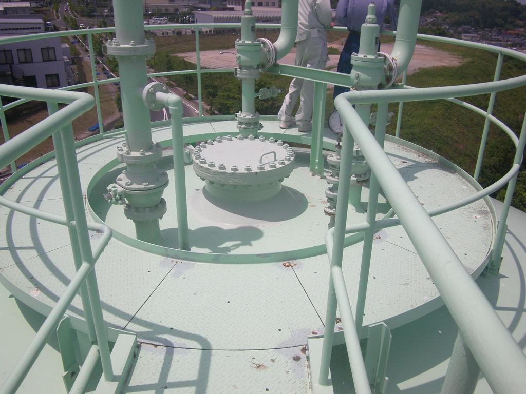 松江市ガス局 南工場球形ガスホルダー 着工前3
