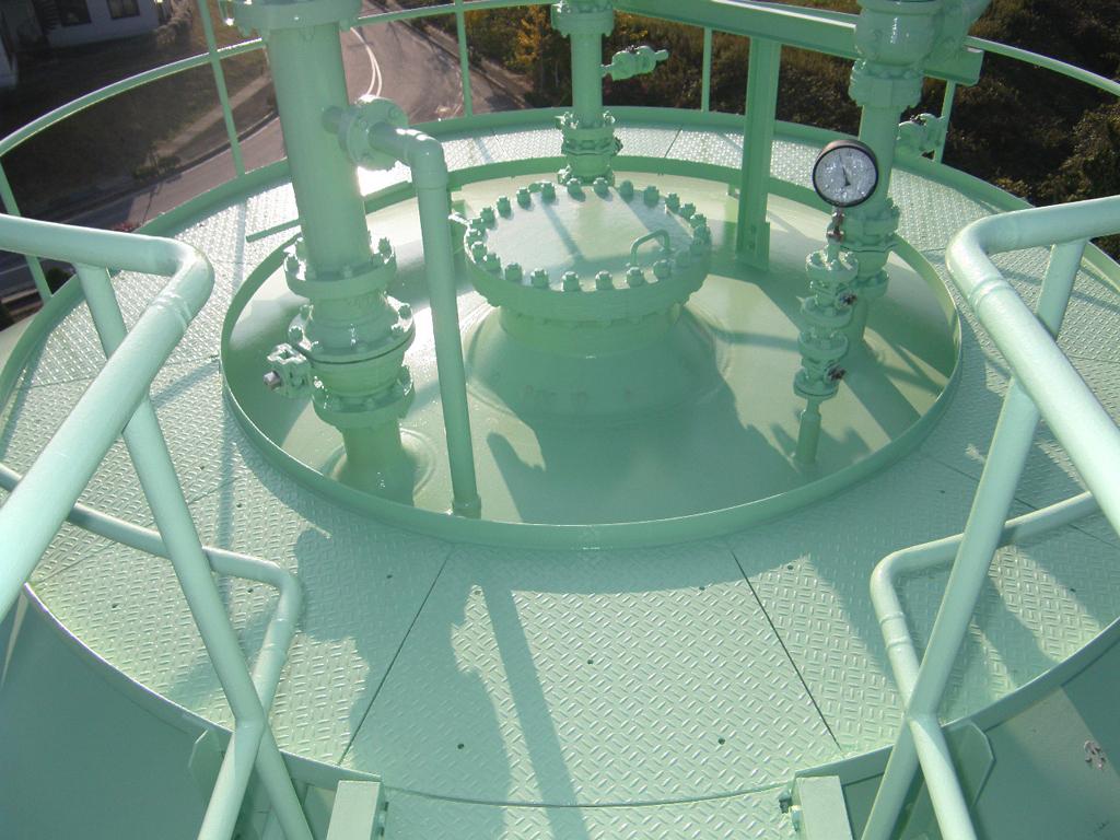松江市ガス局 南工場球形ガスホルダー 竣工3