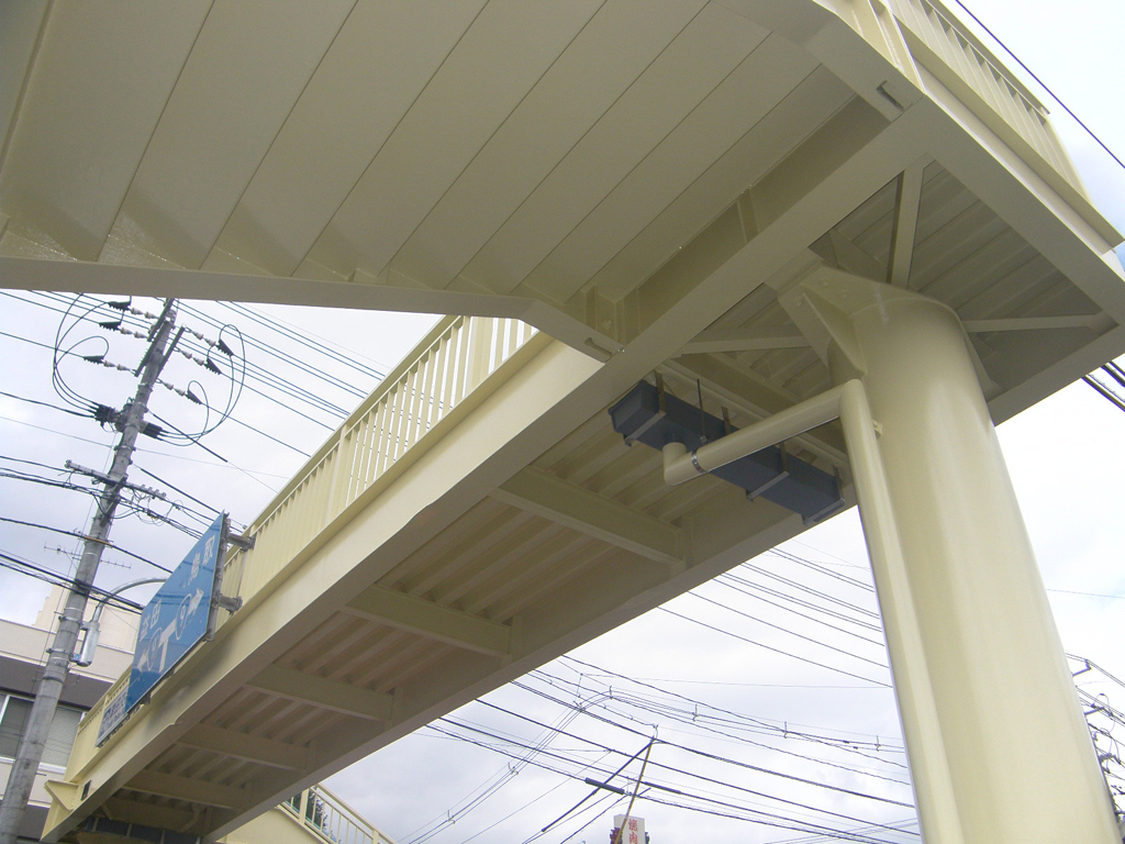 市道東津田鼻曲線 津田横断歩道橋再塗装工事 竣工05
