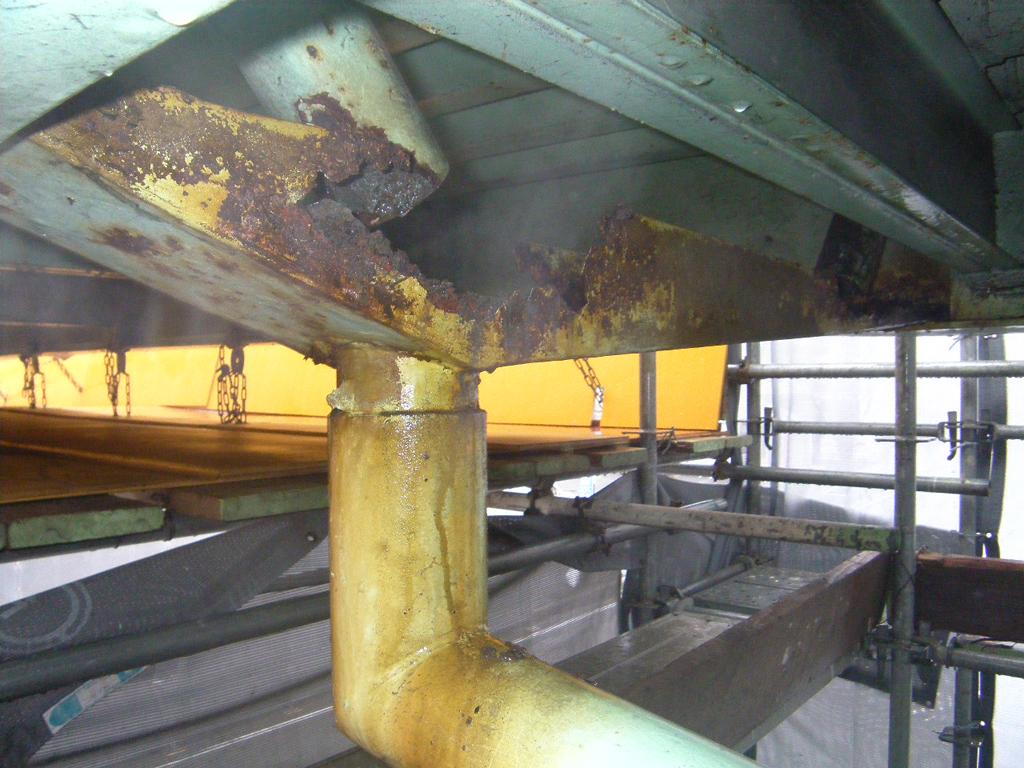 市道東津田鼻曲線 津田横断歩道橋再塗装工事 着工前06