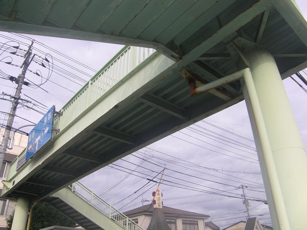 市道東津田鼻曲線 津田横断歩道橋再塗装工事 着工前05