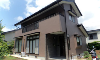 N様ご邸宅/2016年6月竣工 外壁:シリコンテックス/木部:キシラデコール/after1