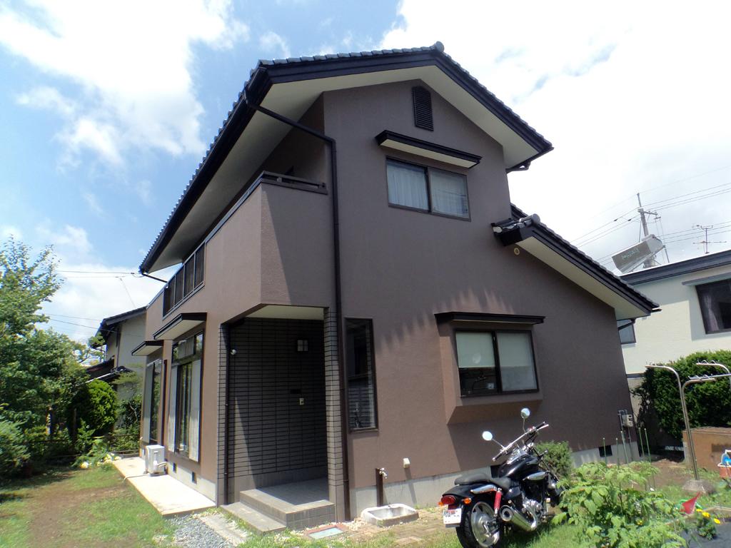 N様ご邸宅/2016年6月竣工 外壁:シリコンテックス/木部:キシラデコール/after2