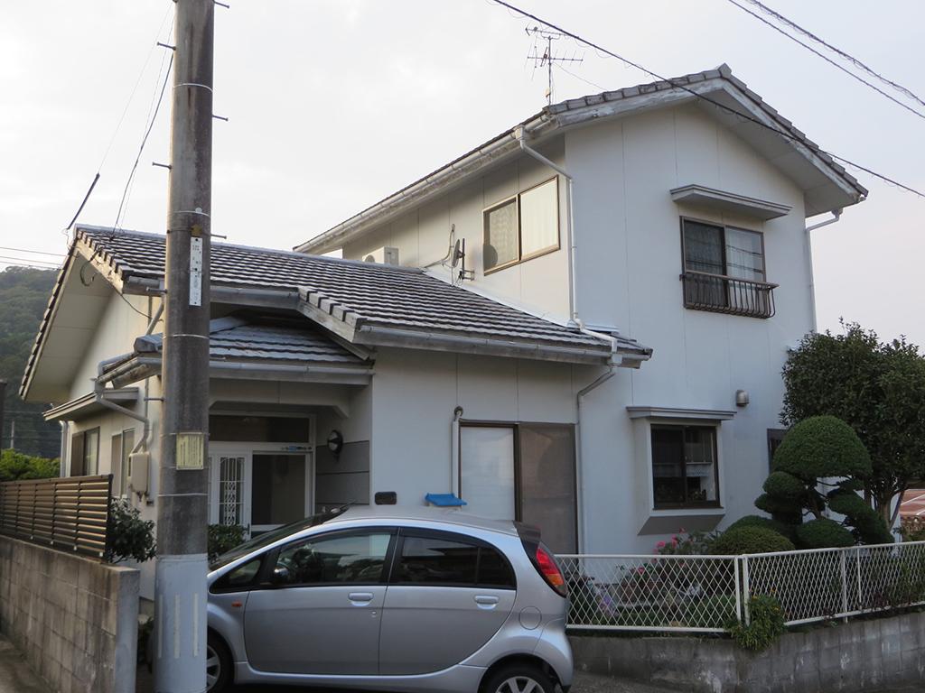 I様ご邸宅/2016年5月竣工 外壁:シリコンテックス/屋根:ヤネフレッシュSi before1