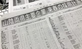 山陰中央新報 主要企業 採用計画