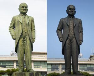 島根県庁 岸清一 銅像(平成23年4月)