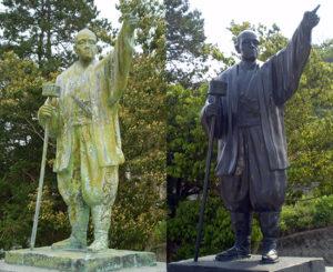 松江市鹿島町 清原太兵衛 銅像(平成24年5月)