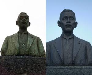 島根県庁 若槻禮次郎 銅像(平成23年4月)