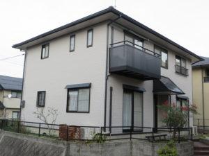 N様ご邸宅/2018年11月竣工 外壁:ナノコンポジットW/屋根:クールタイトSi 竣工1