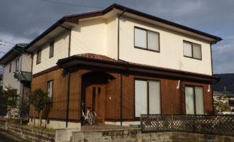 S様ご邸宅/2018年12月竣工 外壁:ナノコンポジットW/板壁:シッケンズ/屋根:クールタイトSi 竣工1