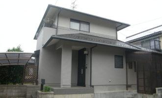 H様ご邸宅/2018年6月竣工 外壁:ナノコンポジットW 竣工1