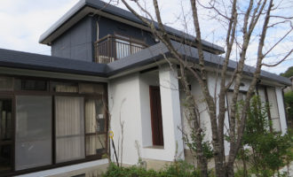 I様ご邸宅/2018年9月竣工 外壁:ナノコンポジットW/屋根:クールタイトSi 竣工後1