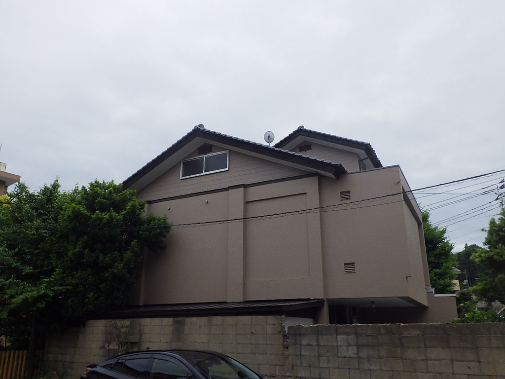M様ご邸宅/2018年6月竣工 外壁:セラミクリーン/屋上+バルコニー:ウレタン塗膜防水 竣工2
