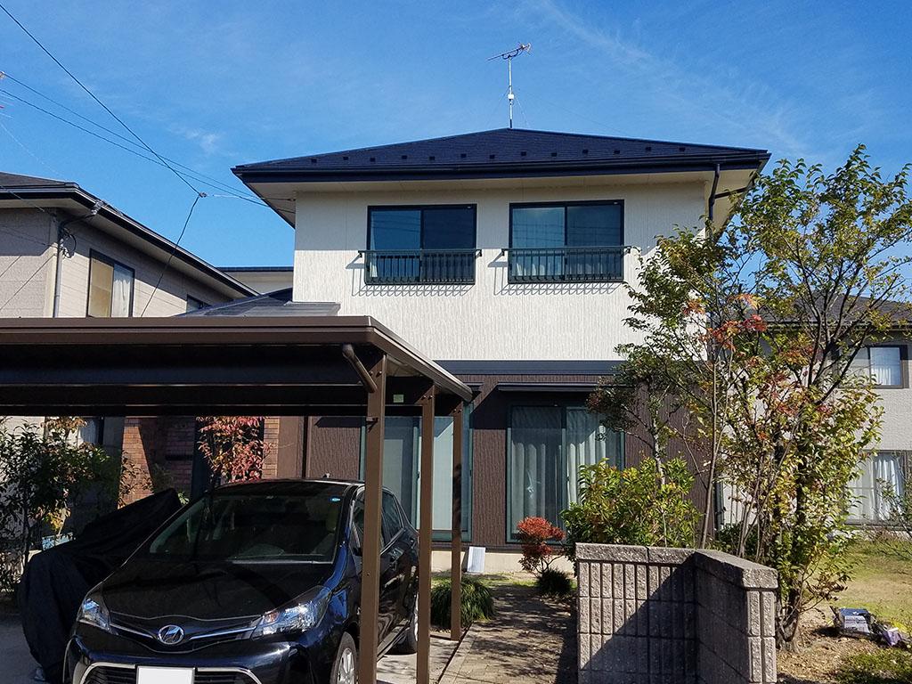 N様ご邸宅/2018年10月竣工 外壁:ナノコンポジットW 竣工2