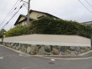 U様ご邸宅/2018年12月竣工 塀:ナノコンポジットW・セラミガード 竣工3