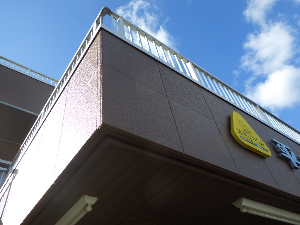 平田生花店 様/2018年10月竣工 外壁:セラミクリーン/屋上+バルコニー:シート防水 竣工3
