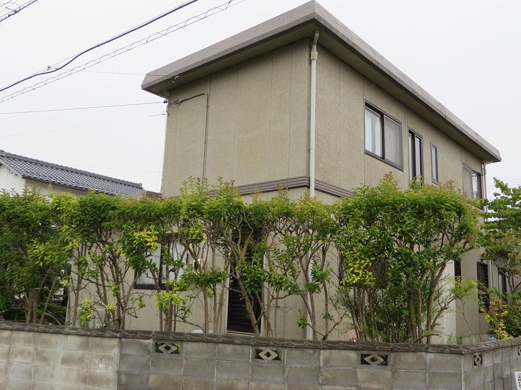 I様ご邸宅/2018年9月竣工 外壁:ナノコンポジットW/屋根:クールタイトSi 着工前2