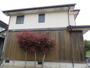 S様ご邸宅/2018年12月竣工 外壁:ナノコンポジットW/板壁:シッケンズ/屋根:クールタイトSi 着工前3