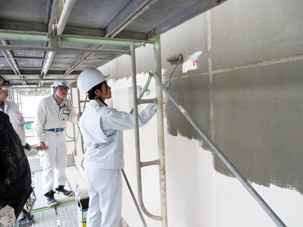 塗装作業の体験