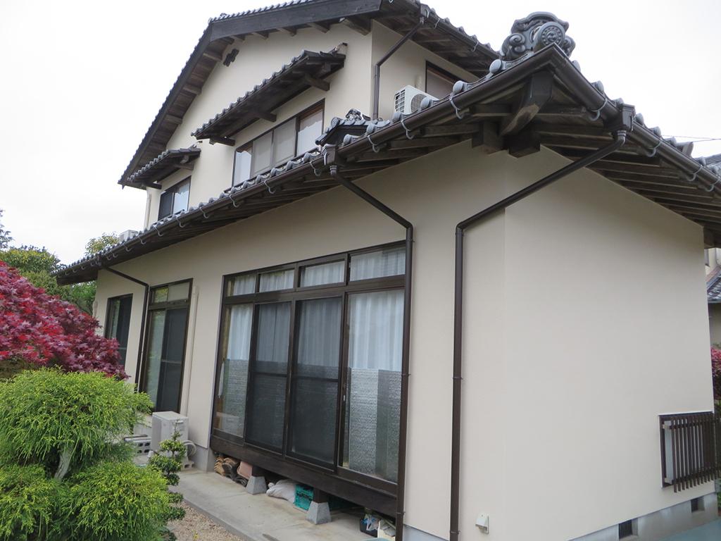 K様ご邸宅/2019年4月竣工 外壁:ナノコンポジットW/木部:キシラデコール/雨樋取替