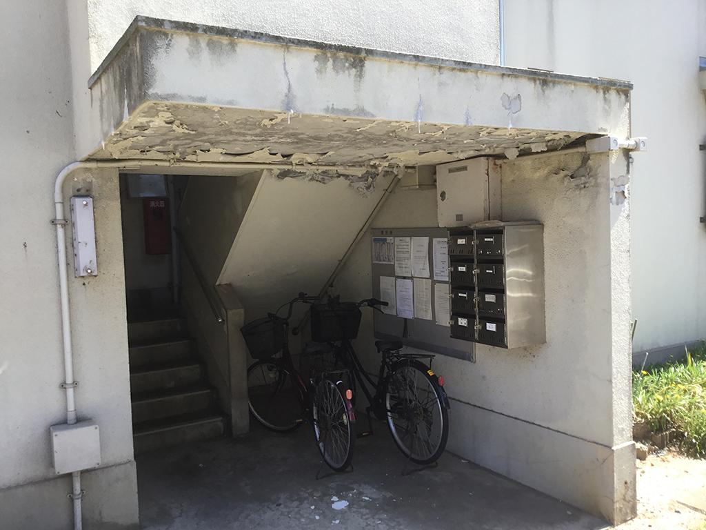 島根県営住宅(出雲市小山団地4号棟)外壁改修外工事 着工前3
